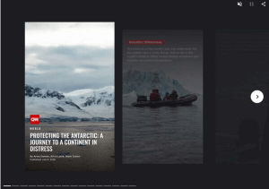 Web Story made by CNN about Antarctica